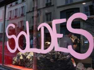 Sale season in Paris