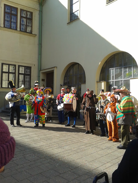 the local fasching band